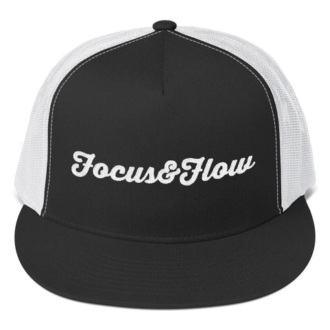 Focus & Flow Signature White Graphic Trucker Cap