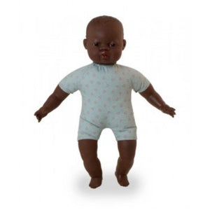 MINILAND Doll - Soft Bodied with articulated head - African 40cm