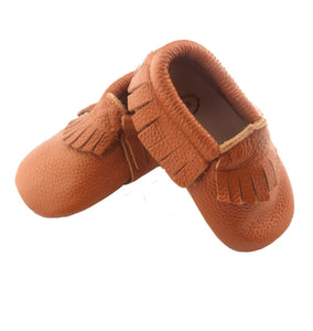 Wild Chase Frilled Moccasins - Brown