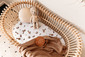 Snuggle Hunny - Fox Bassinet Sheet/Change Pad Cover