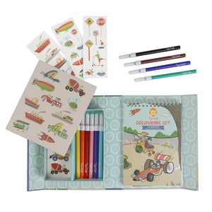 Colouring Set - Transport