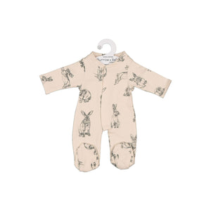 MINILAND Burrow and Be Clothing - Almond Burrowers Sleep Suit (For 38cm Doll)