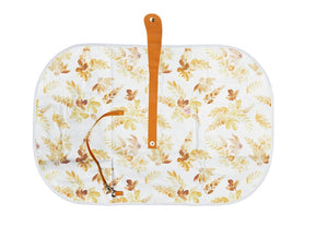 Baby Travel Change Mat - Mustard Floral