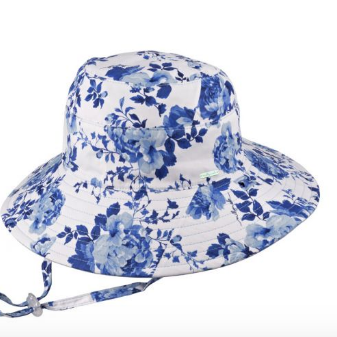 Girls Wide Brim Hat - Pearl