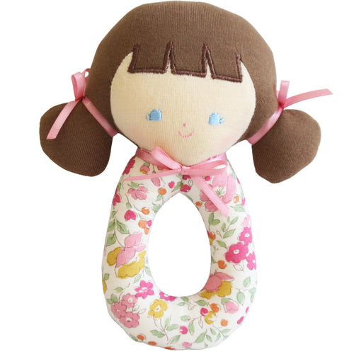 Audrey Grab Rattle - 16cm Rose Garden