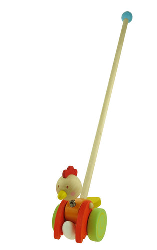 Wooden Push A Long Chicken & Egg