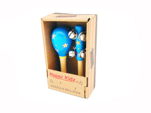Maraca and Bell stick Set - Star