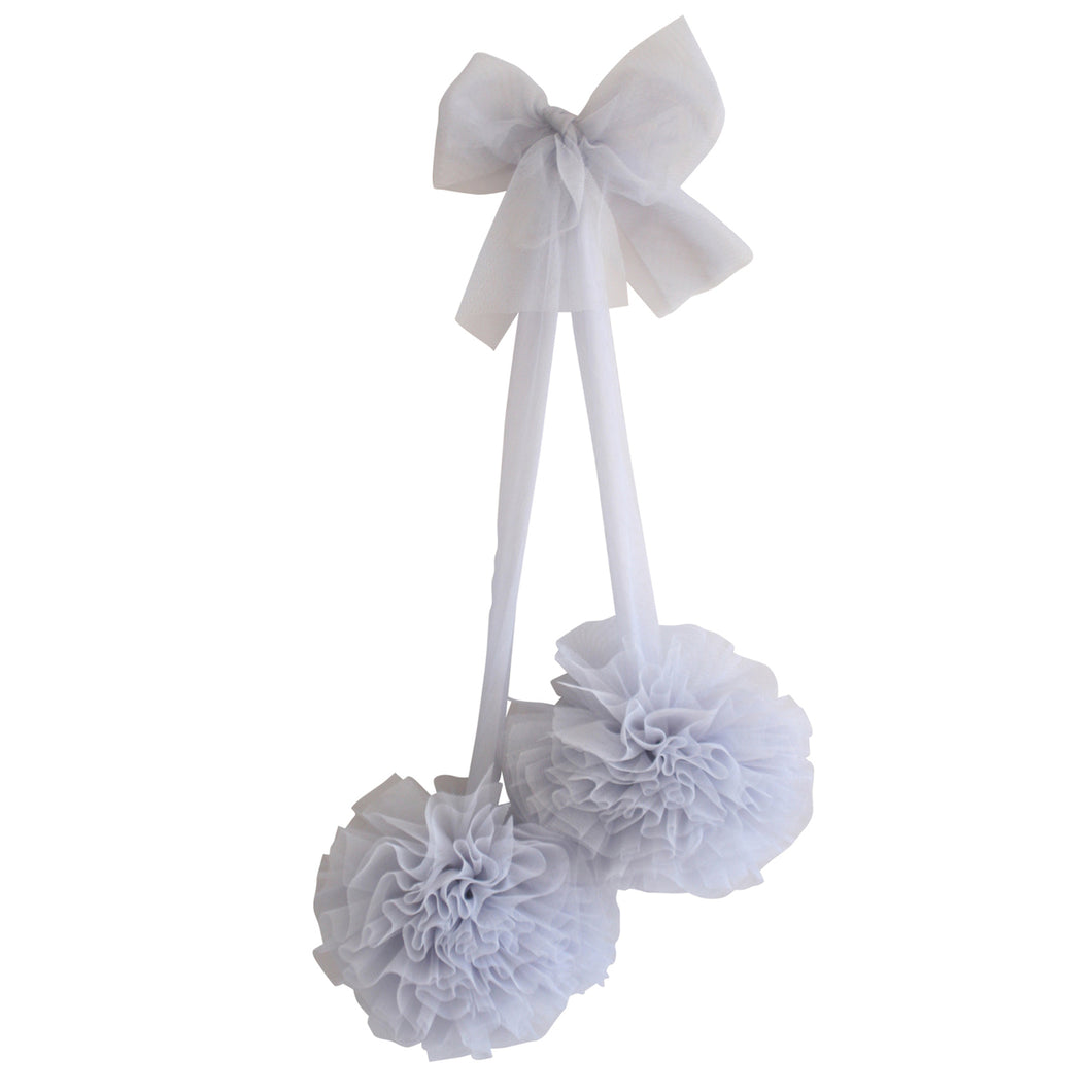 Tulle Pom Pom Decor Set 2pc - Mist