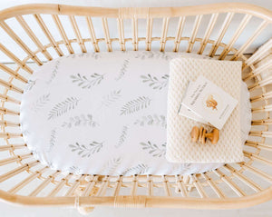 Snuggle Hunny - Wild Fern Bassinet Sheet/Change Pad cover
