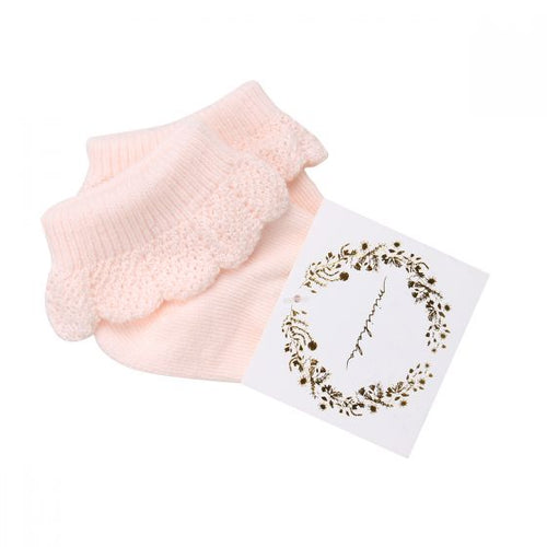 Bebe - Drop Needle Socks - Pale Pink