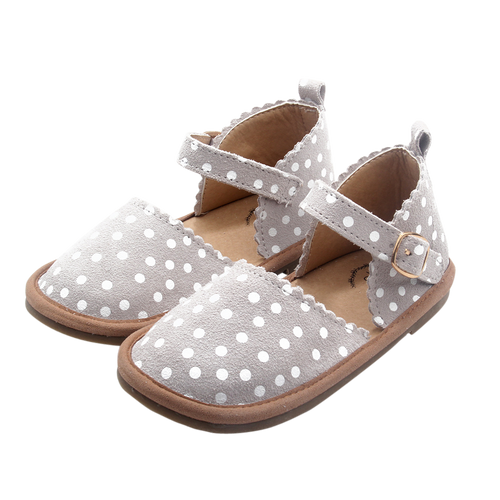 Sweetheart Leather Sandal - Grey & White