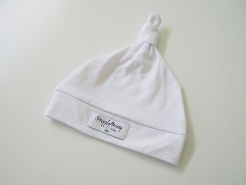 Snuggle Hunny - White Knotted beanie