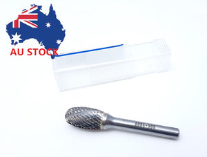 Carbide Burr (All Sizes) - Egg shape, Medium Double Cut, Die Grinder (Australia)