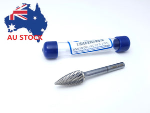 Carbide Burr - Pointed Tree, Double Cut 804 series (All Sizes) (Australia)