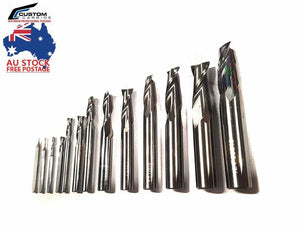 End Mill Two 2 Flute (all sizes) Solid Carbide for CNC and Milling + Aluminium