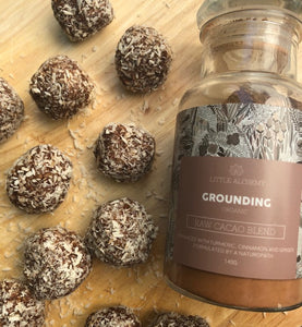 Grounding Raw Cacao Bliss Balls