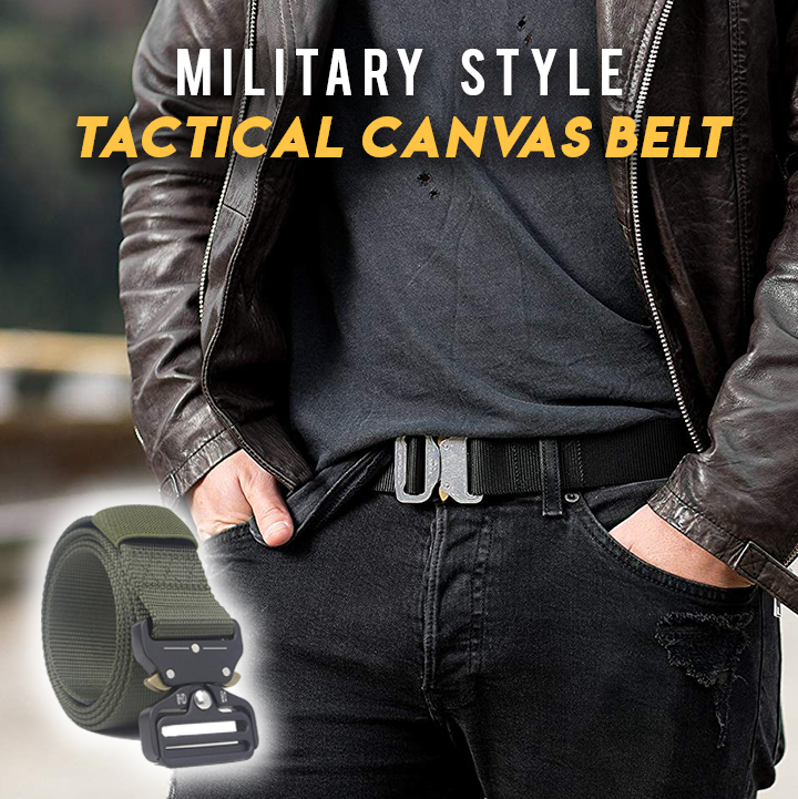 Military Style Heavy Duty Canvas Belt
