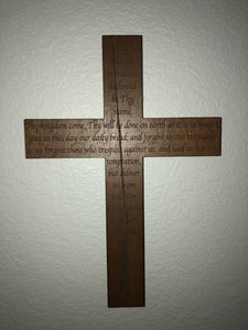 Lord's Prayer Cross