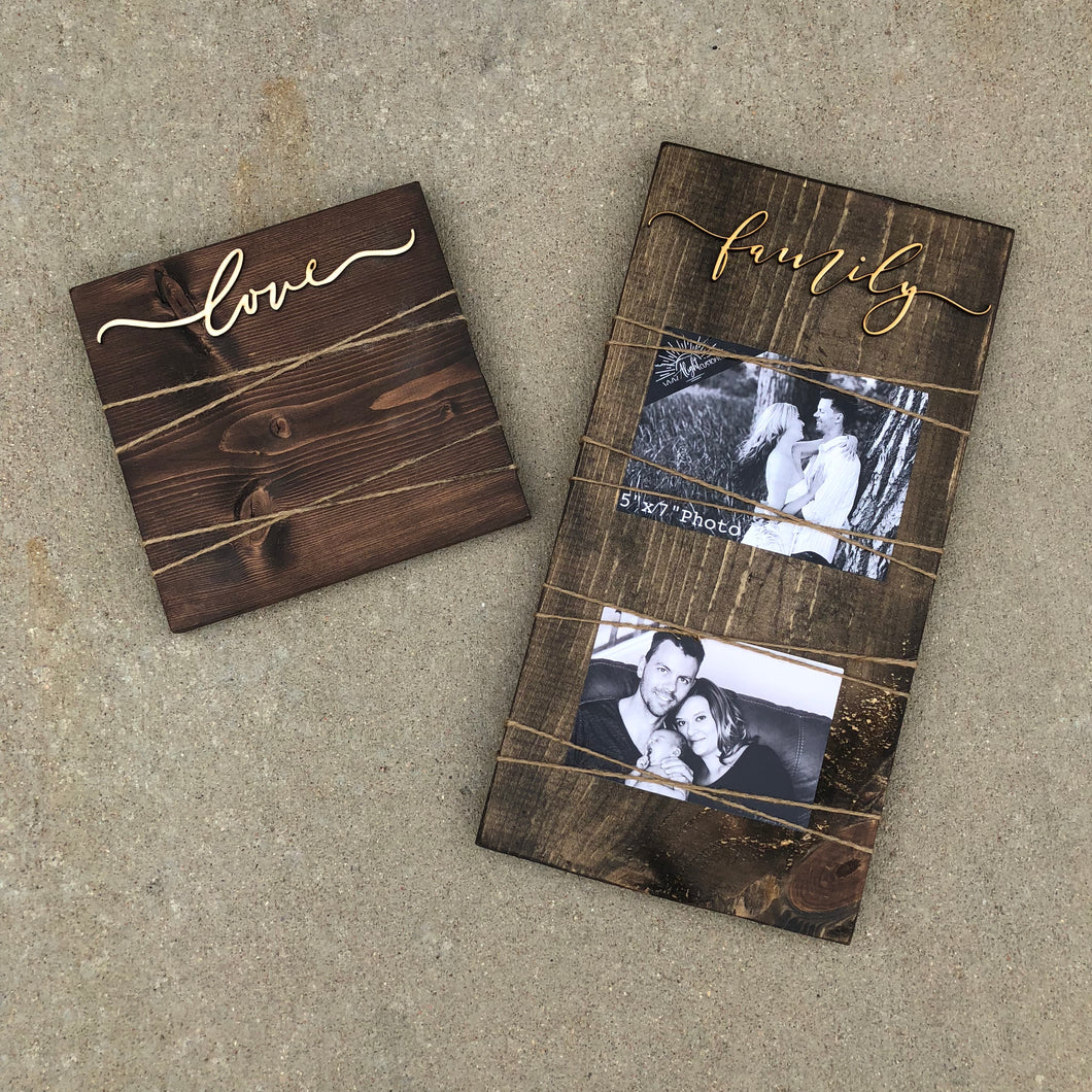Plank Picture Frame - 2 Photos