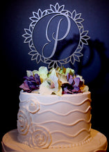 Lotus Monogram Cake Topper