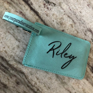 Vegan Leather Luggage Tag