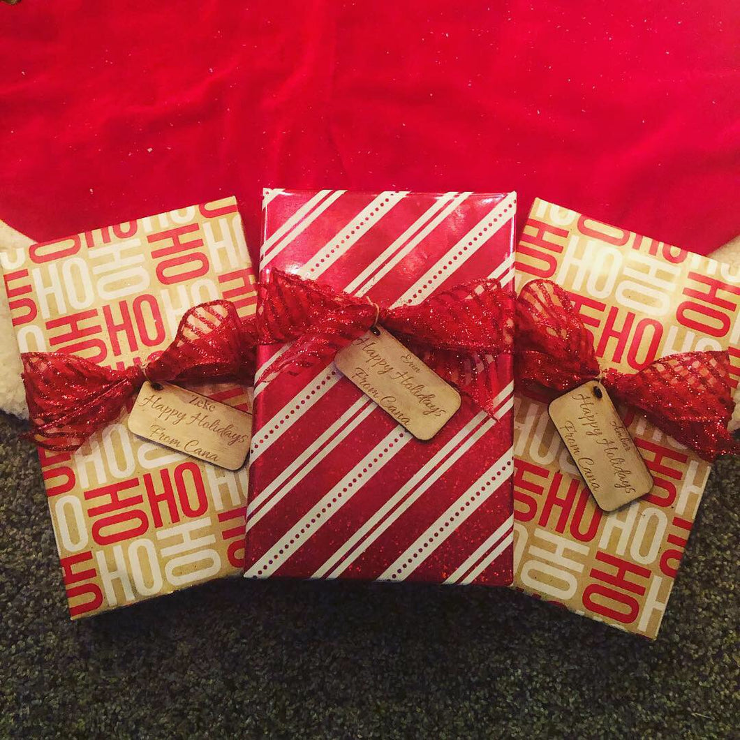 Gift Wrapping with Custom Tag