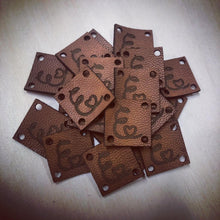 25 Custom Leather Tags (Knitting or Crochet)