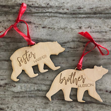 Customized Bear Ornaments