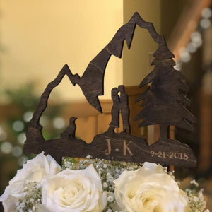 Mountain Cake Topper