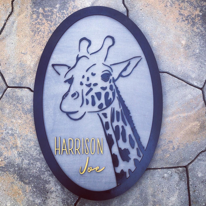 Giraffe Name Sign