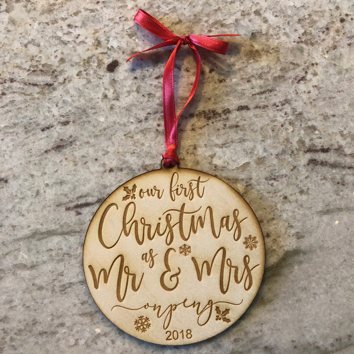 Customized Mr & Mrs Ornament