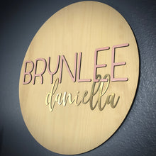 Round Name Board