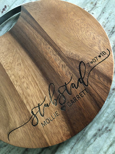 Customized Cheese Board Cutting Board