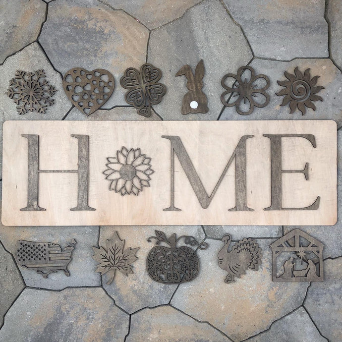 Interchangeable Seasonal Home Sign