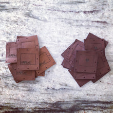 Individual Square Leather Tags