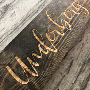 Engraved Wood Sign