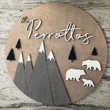 Mountain Family Name Board