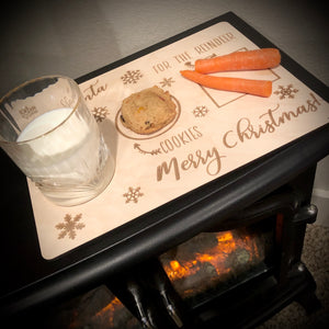 'For Santa' Milk & Cookie Tray