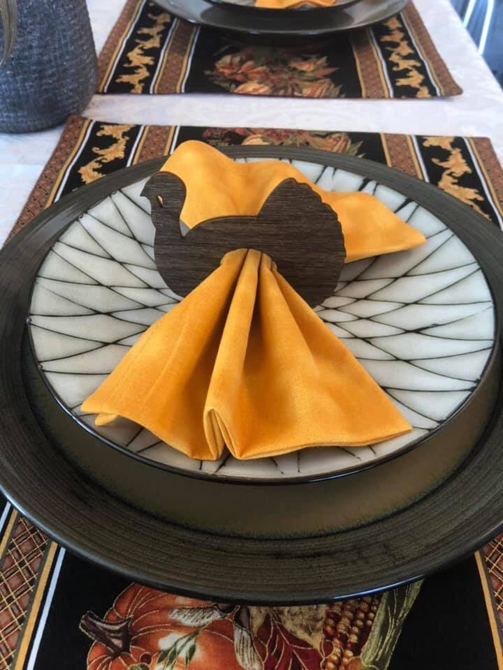 Turkey Shaped Napkin Holders