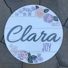Shiplap Floral Name Board