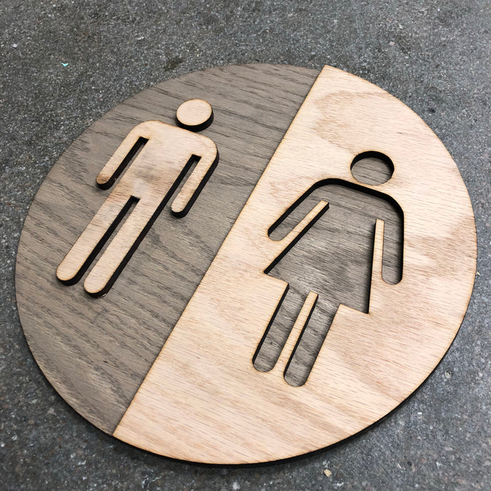 Bathroom Sign - Round