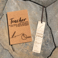 Teacher Journal + Bookmark Combo