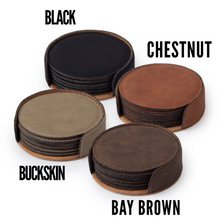Vegan Leather Coaster Set