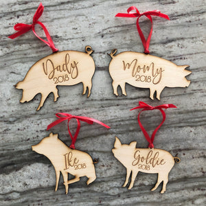Customized Pig Ornaments