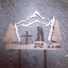 3 Layer Mountain Cake Topper