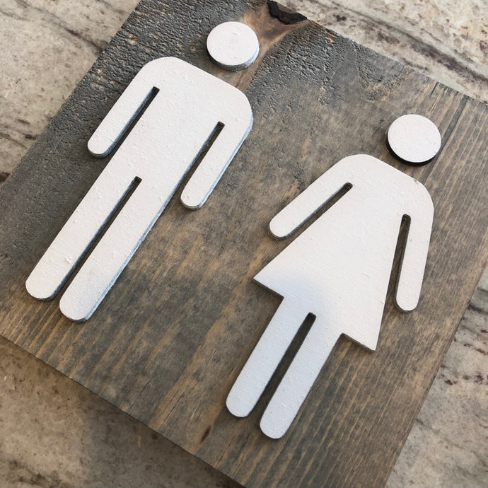 Bathroom Sign - Square