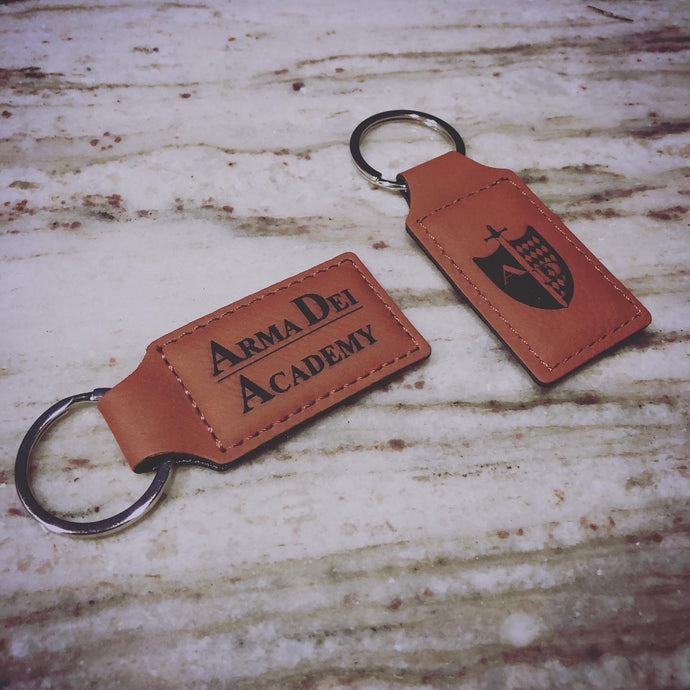 Vegan Leather Keychain (Customizable)