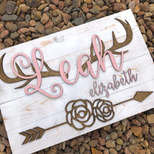 Antler Nursery Sign