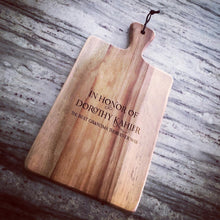 Customizable Slate + Acacia Serving Boards