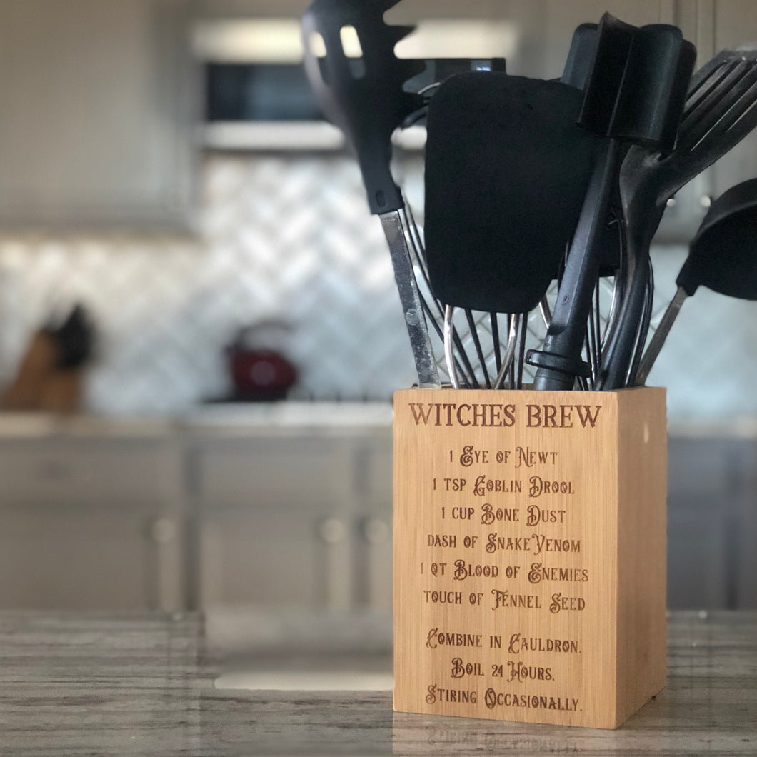 Bamboo Utensils Holder